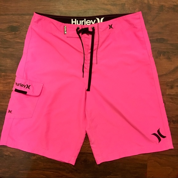 c299a3052cdc2 Hurley Other - HURLEY HOT PINK Board Shorts Swim Trunks 32